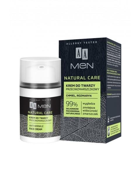 AA Men Natural Care krem przeciwzmarszczkowy 50 ml