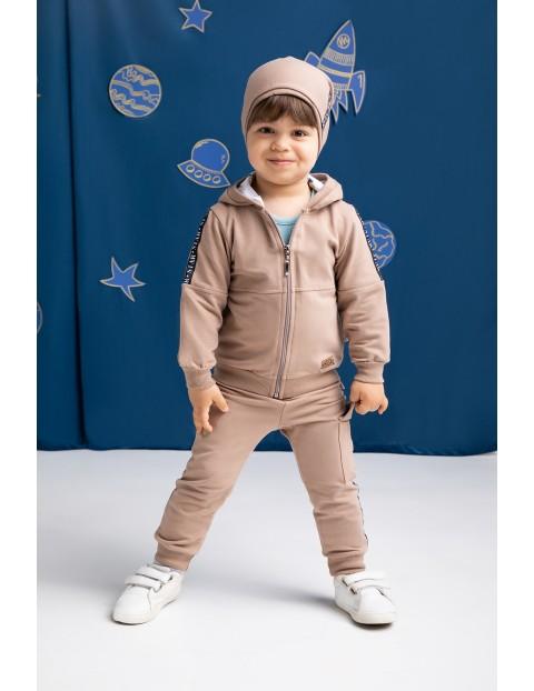 Bluza dresowa chłopięca Star - brązowa