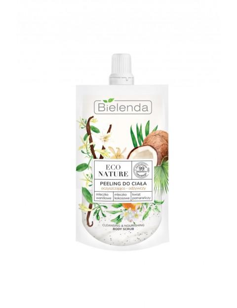 ECO NATURE - Mleczko waniliowe +Mleczko kokosowe + kwiat pomarańczy - peeling do ciała oczyszczająco - odżywczy - 100 g