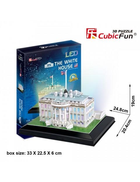 PUZZLE 3D Biały Dom (Światło)
