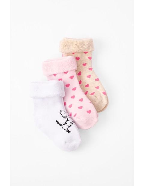 Skarpetki niemowlęce ciepłe-frotte