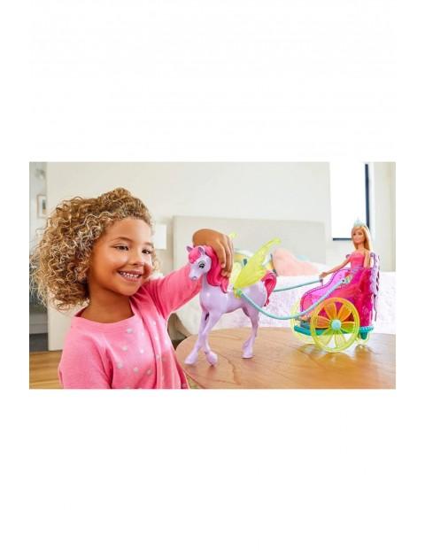 Barbie Lalka księżniczka z rydwanem i Pegazem wiek 3+