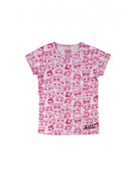 T-shirt dziewczęcy LOL w kolorze różowym