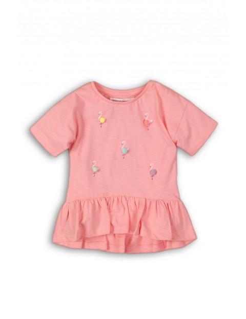 Koszulka dziewczęca z flamingami