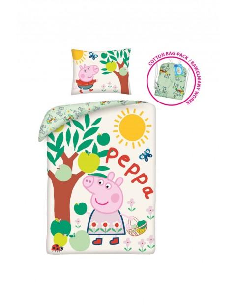 Komplet pościeli Świnka Peppa- pościel + poduszka 140x200cm+70x90cm
