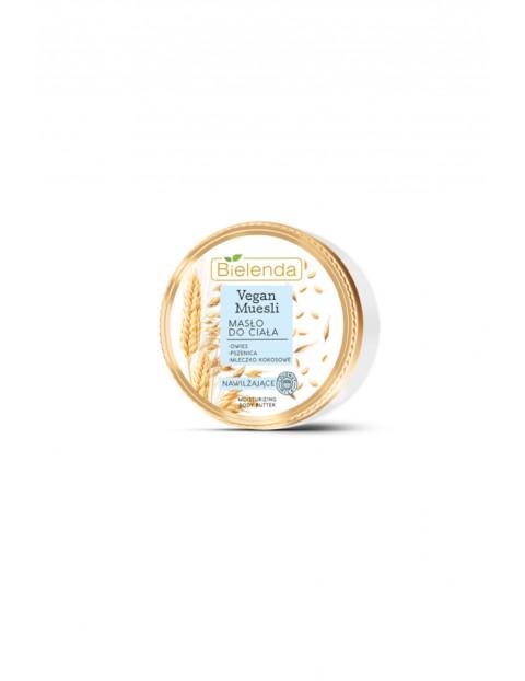 VEGAN MUESLI masło do ciała nawilżające owies + pszenica + mleczko kokosowe 250 ml