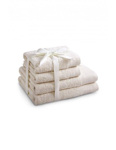 Zestaw ręczników bawłenianych AMARI ecru 4 szt - 2 ręczniki 70x140 cm, 2 ręczniki 50x100 cm