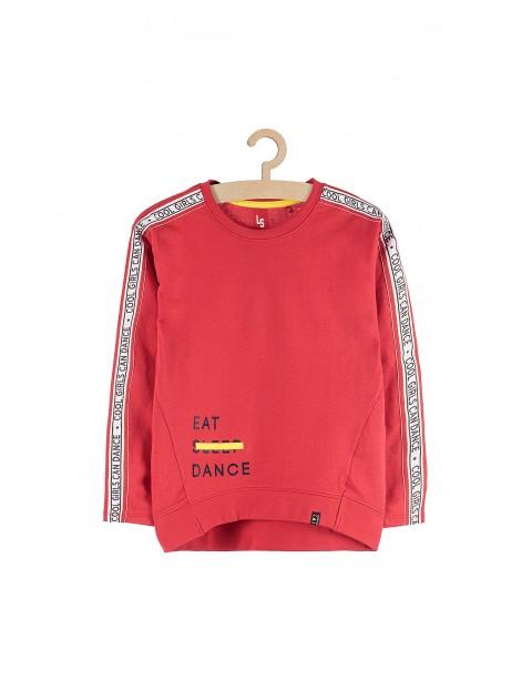 Bluza dresowa dla dziewczynki- czerwona