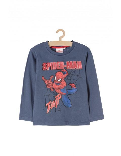 Bluzka chłopięca granatowa z długim rękawem Spiderman