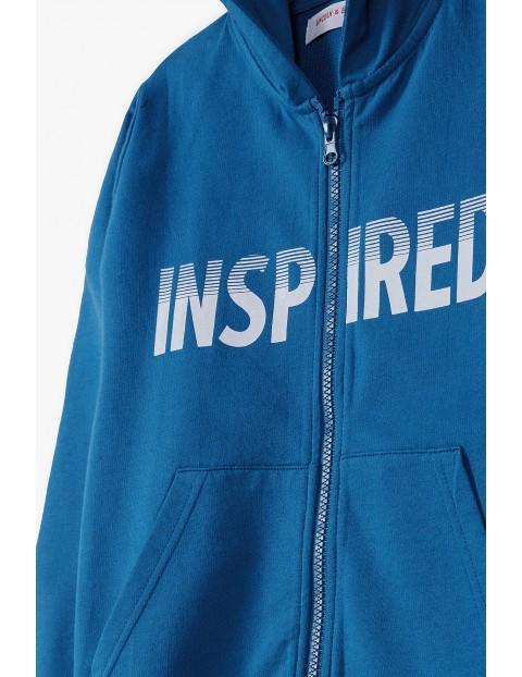 Bawełniana bluza dresowa chłopięca z kapturem - Inspired