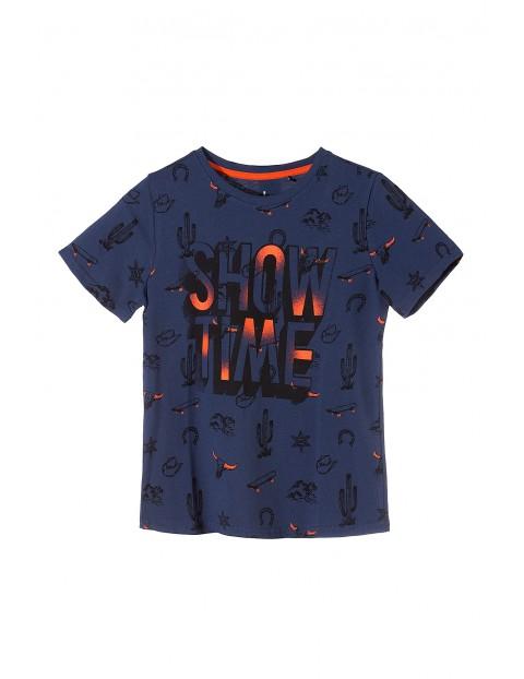 Koszulka chłopięca granatowa- Show Time