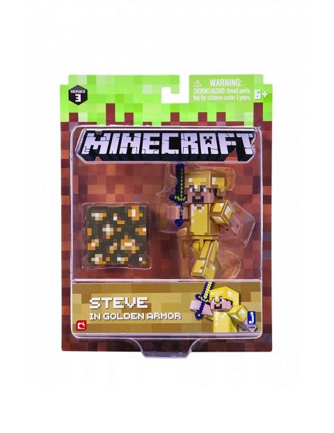 Figurka Steve Minecraft w złotej zbroi