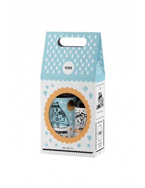 Zestaw kosmetyków mydło w płynie i żel pod prysznic- Zimowe Ciasteczka