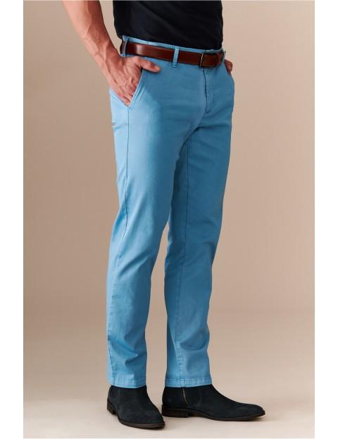 Spodnie męski typu chinos - niebieskie