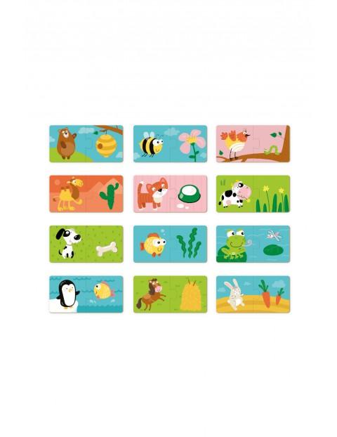 Puzzle Duo Co Jedzą Zwierzęta - 12 el 18msc+