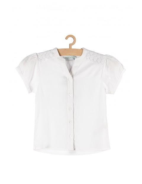 Koszula dziewczęca z krótkim rękawem- biała
