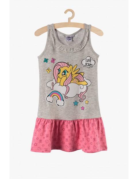 Sukienka dziewczęca My Little Pony szaro-różowa