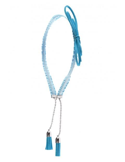Opaska do włosów niebieska z kolczykami