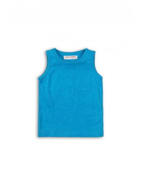 Bluzka chłopięca niebieska na ramiączka