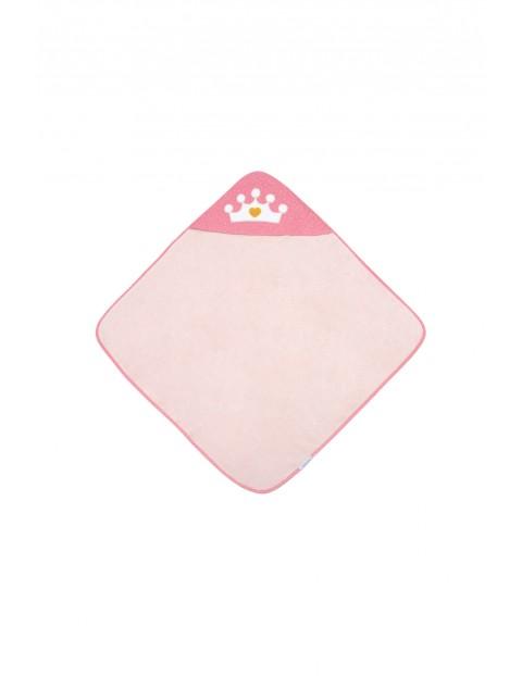 Okrycie kąpielowe dla niemowląt  Queen - różowe 85x85cm
