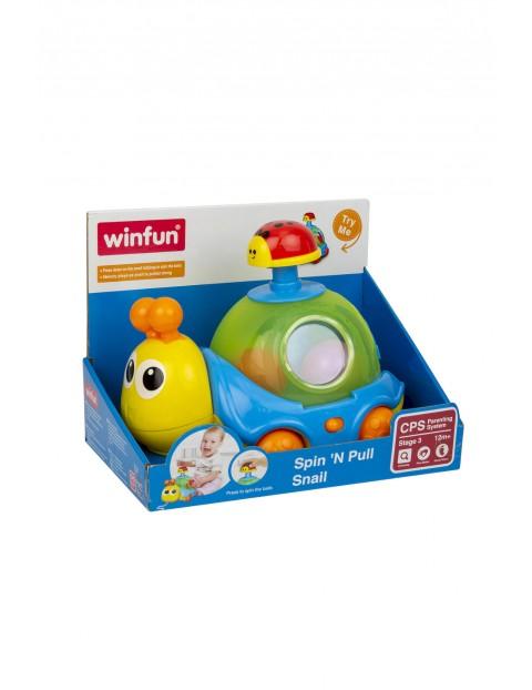 Zabawki niemowlęce do ciągnięcia - Ślimak Bączek wiek 12msc+