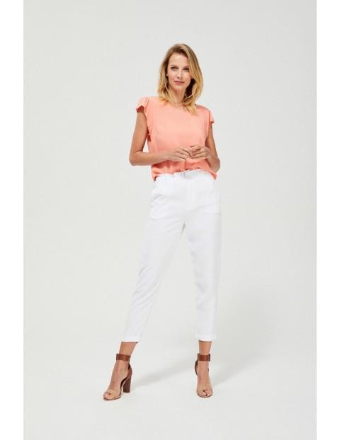 Letnie spodnie z wiskozy białe