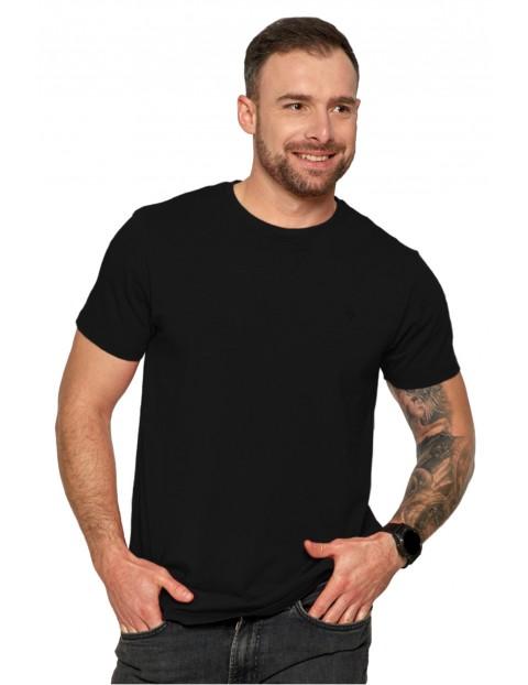 Klasyczny T-shirt męski idealny do casualowych stylizacji- czarny