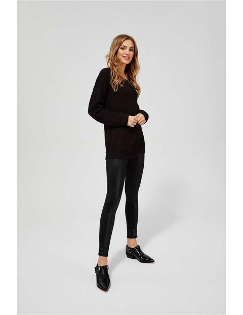 Sweter damski oversize - czarny