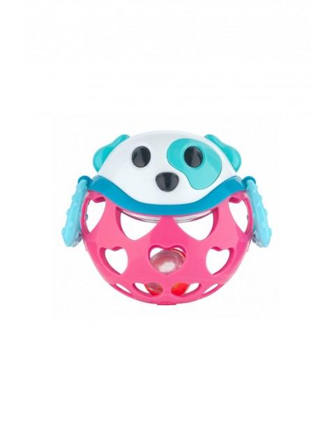 """Interaktywna zabawka z grzechotką """"Pies Różowy"""""""