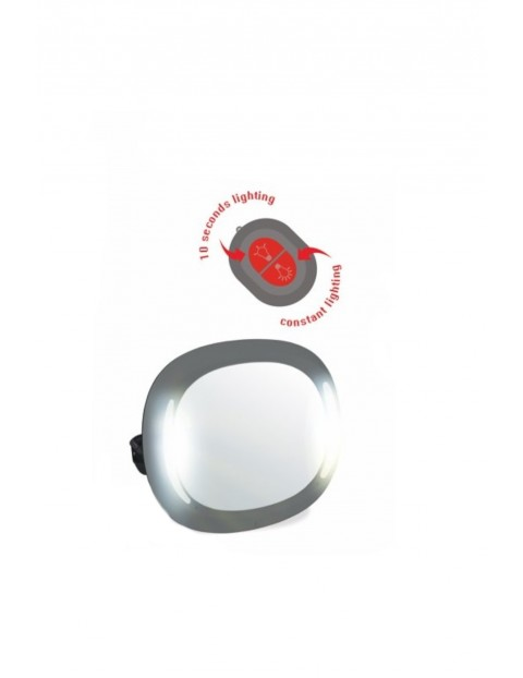 Lusterko samochodowe do obserwacji dziecka LED