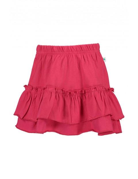 Spódnica dziewczęca różowa z falbankami