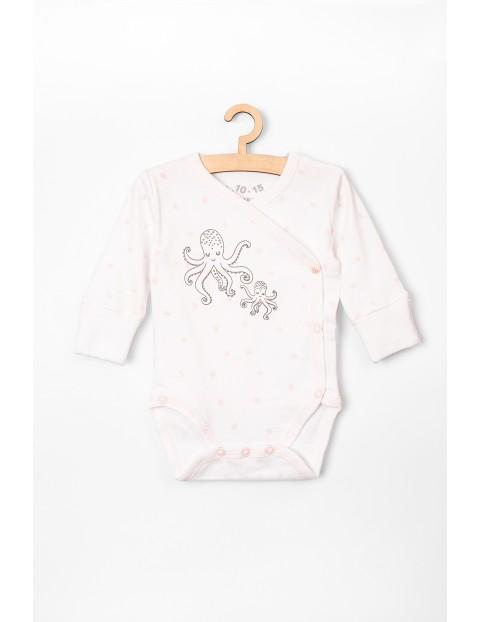 Kopertowe body niemowlęce różowe z ośmiorniczkami