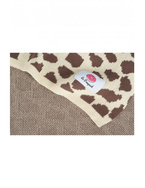 Kocyk bawełniany żyrafa 100x80cm