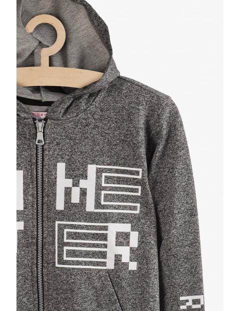 Bluza sportowa dla chłopca- szara z nadrukami