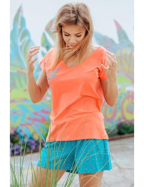 Przewiewna piżama z delikatnej bawełny - koszulka i spodnie