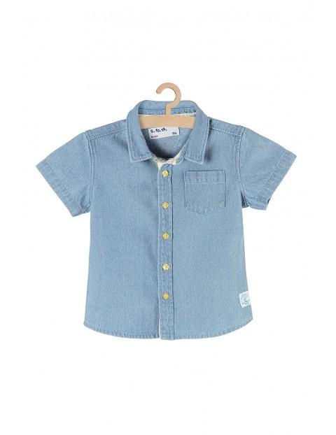 Koszula jeansowa dla niemowlaka- niebieska