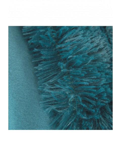 Narzuta z delikatnego futerka - turkusowa - 200 x 220 cm