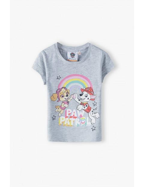 T-shirt dziewczęcy Psi Patrol - szary