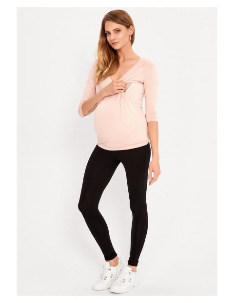 Bluzka dla kobiet w ciąży i karmiącej mamy -jasnoróżowa