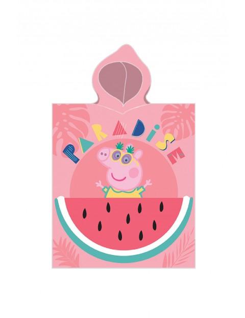 Poncho kąpielowe bawełniane Peppa Pig 50x115 cm