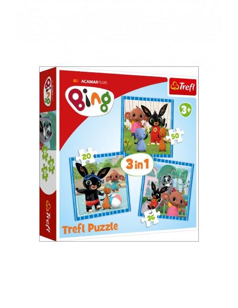 Puzzle 3w1- Zabawy z przyjaciółmi / Acamar Films Bing wiek 3+