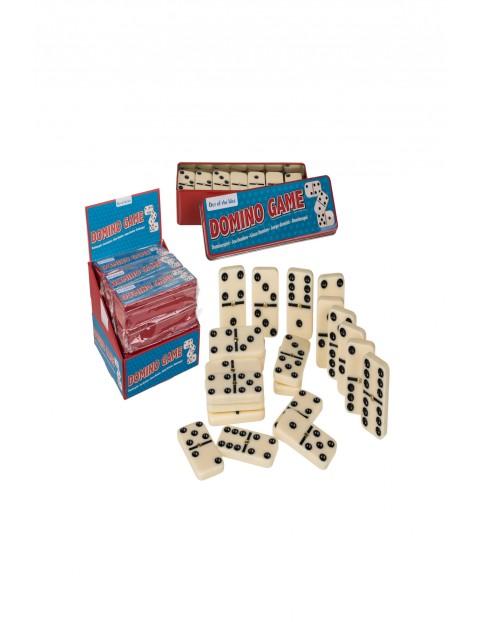 Gra Domino w metalowym pudełku Rodzinna - 17,2x5,6x3,8 cm