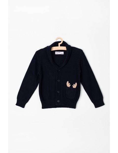Sweter niemowlęcy z rogami renifera