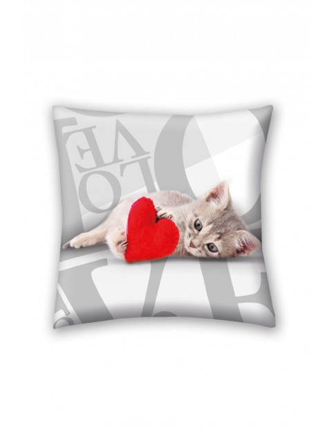 Poduszka z wypełnieniem Animals kotek 40x40cm