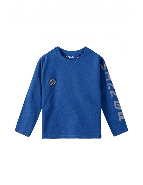 Bawełniana granatowa bluzka dla chłopca