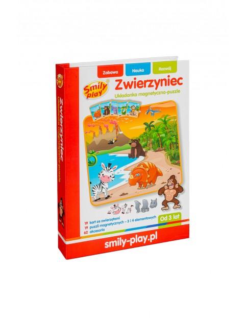 Układanka magnetyczna puzzle Zwierzyniec Smily Play 82 elementy  wiek 3+