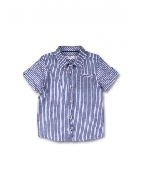 Koszula chłopięca z krótkim rękawem - niebieska