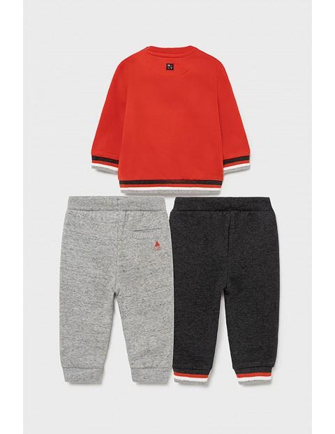 Komplet dresowy 3 częściowy - bluza z nadrukiem  + 2 x spodnie dresowe z troczkiem