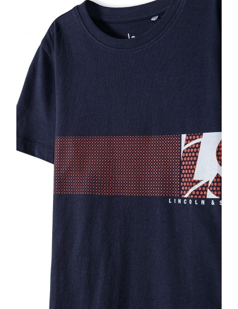 Bawełniany t-shirt chłopięcy Lincoln & Sharks