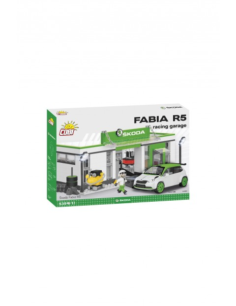 Klocki Cobi Cars Skoda Fabia RS - Racing garage 536el